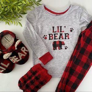 B1G1 FREE 💕 Lil Bear 🐻 Buffalo Plaid Pajamas Set
